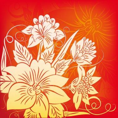 Decorazione con fiore