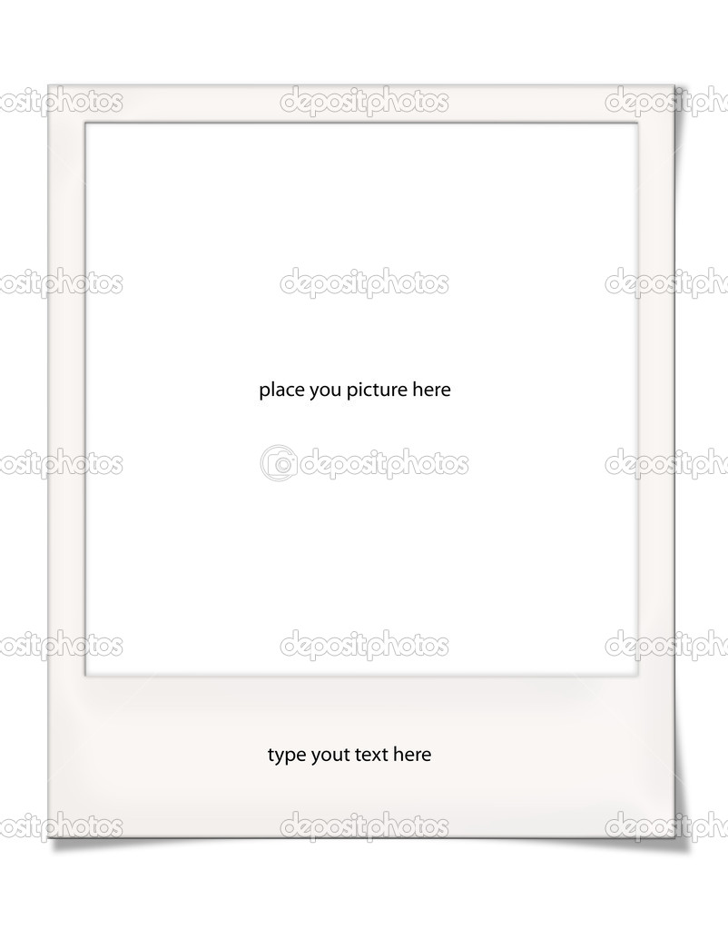 Blank Polaroid Frame With Light Shadow For Your Photos And Texts Photo By Graphicjet