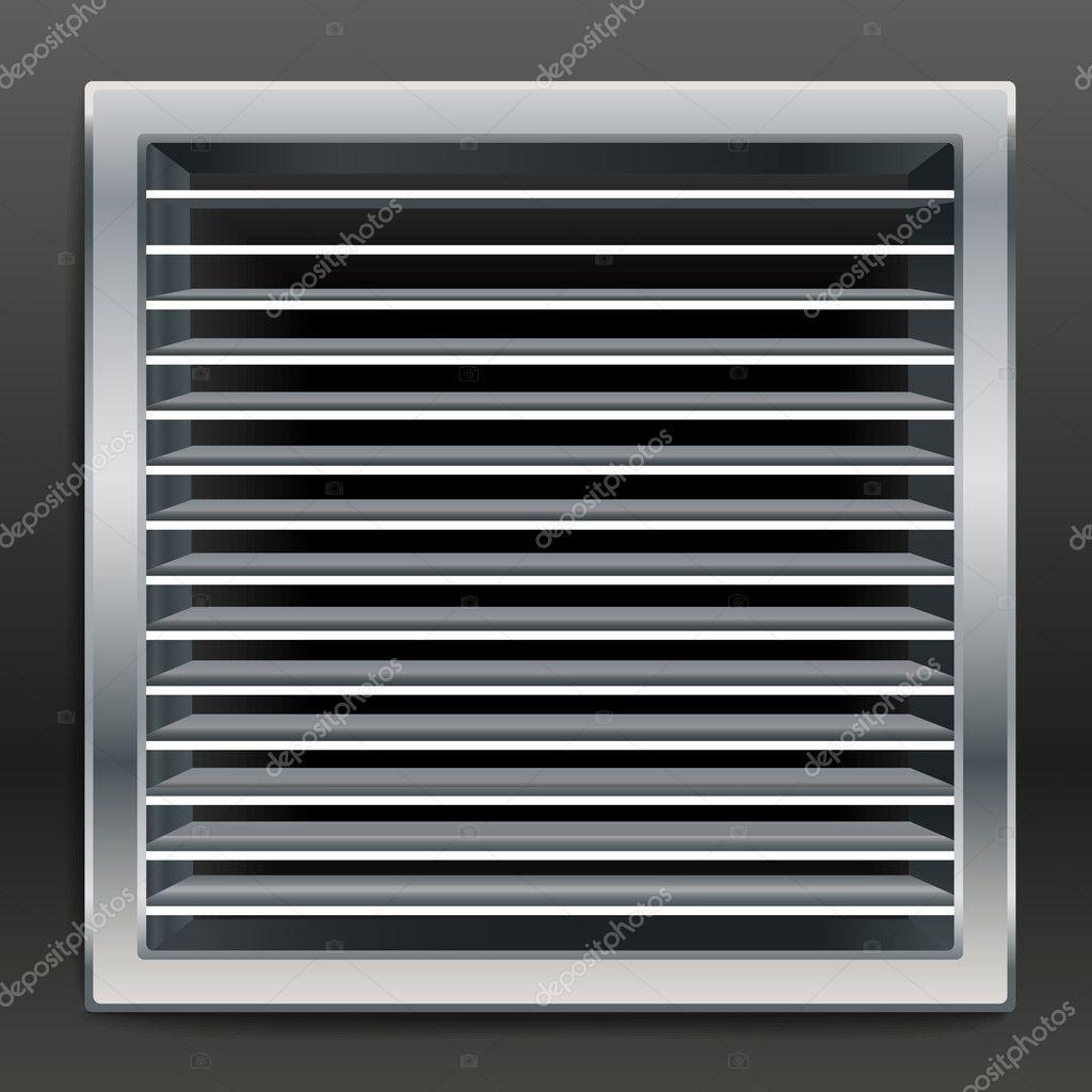 Fotorealistische Badezimmer Luftung Fenster Vektor Stockvektor