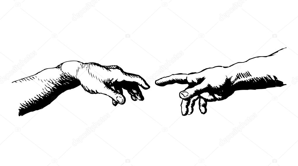 Creation Of Adam Hands High Resolution The Creation Of Adam Stock Vector C Dukepope 10196891