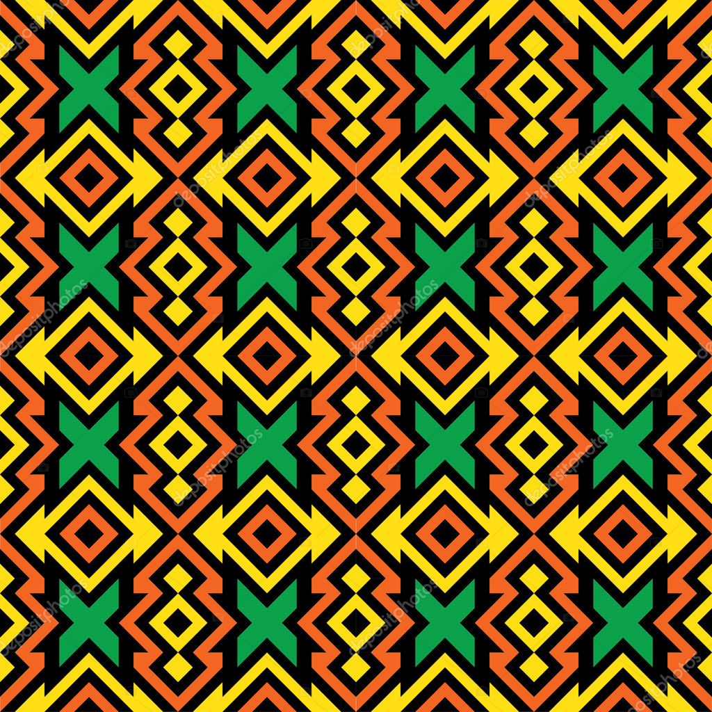 seamless african fabric pattern stock vector dukepope 10196933. Black Bedroom Furniture Sets. Home Design Ideas