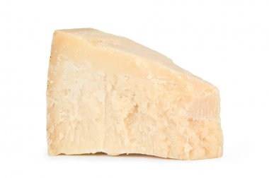 Piece of resh parmesan cheese.
