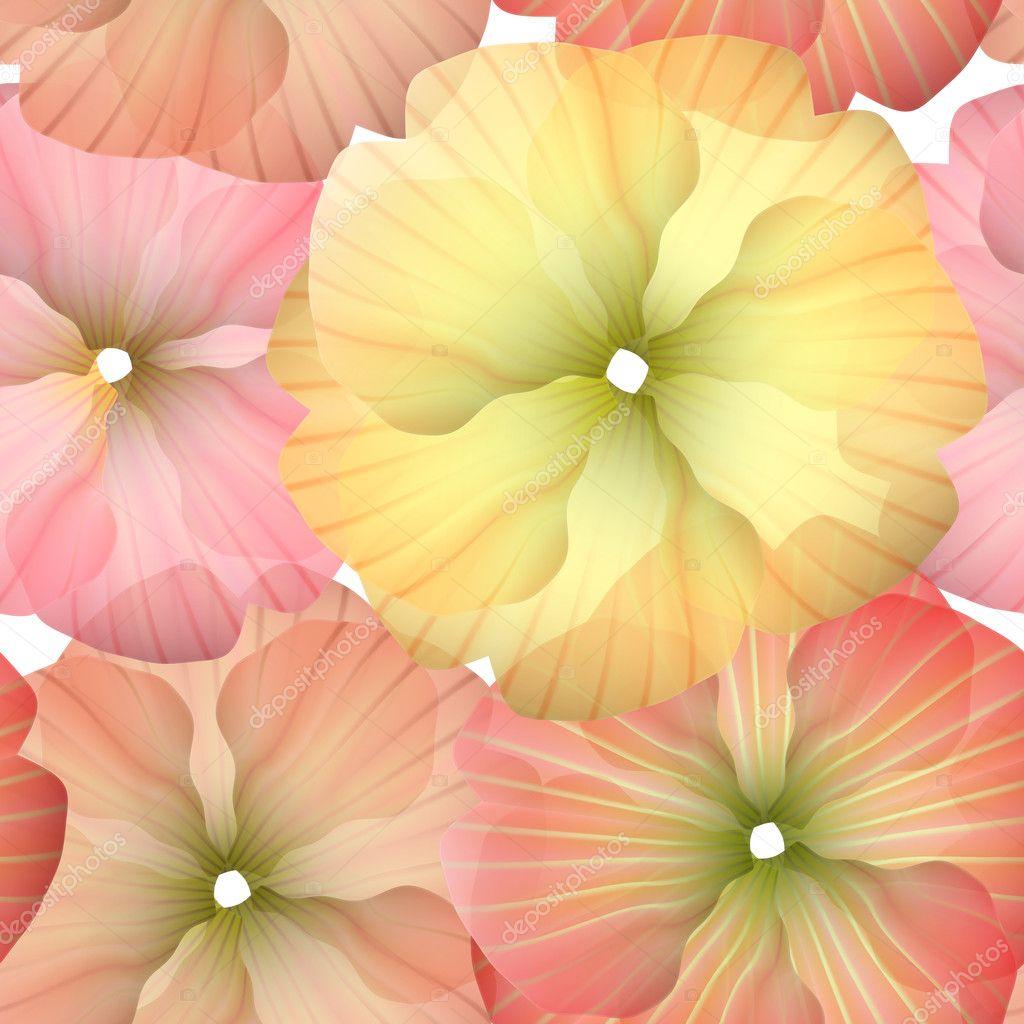 Seamless Primula Flowers Pattern 2