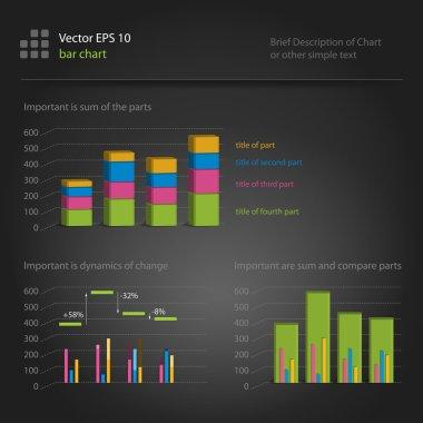 Infographics, bar chart