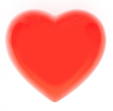 Photo of a red heart on white stock vector