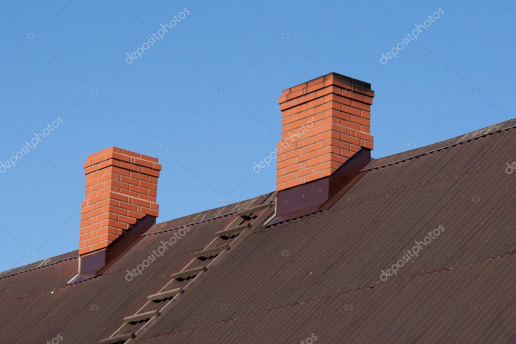 Two brick chimney