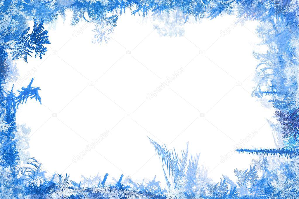 Морозная рамка для картинки