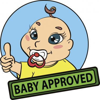 Baby approved vector seal.
