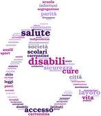 Fotografie Disability tagcloud sign