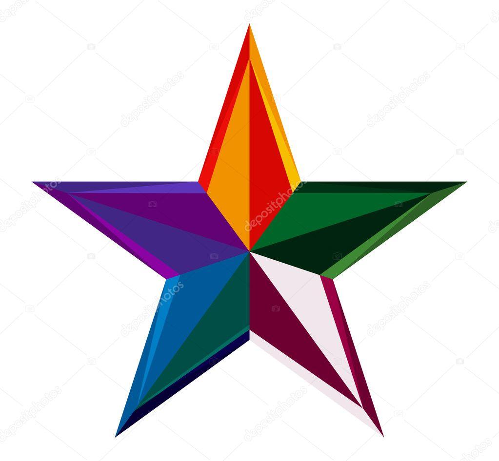 stelle colorate ? vettoriali stock © i.martin #10451111 - Disegno Stella Colorate