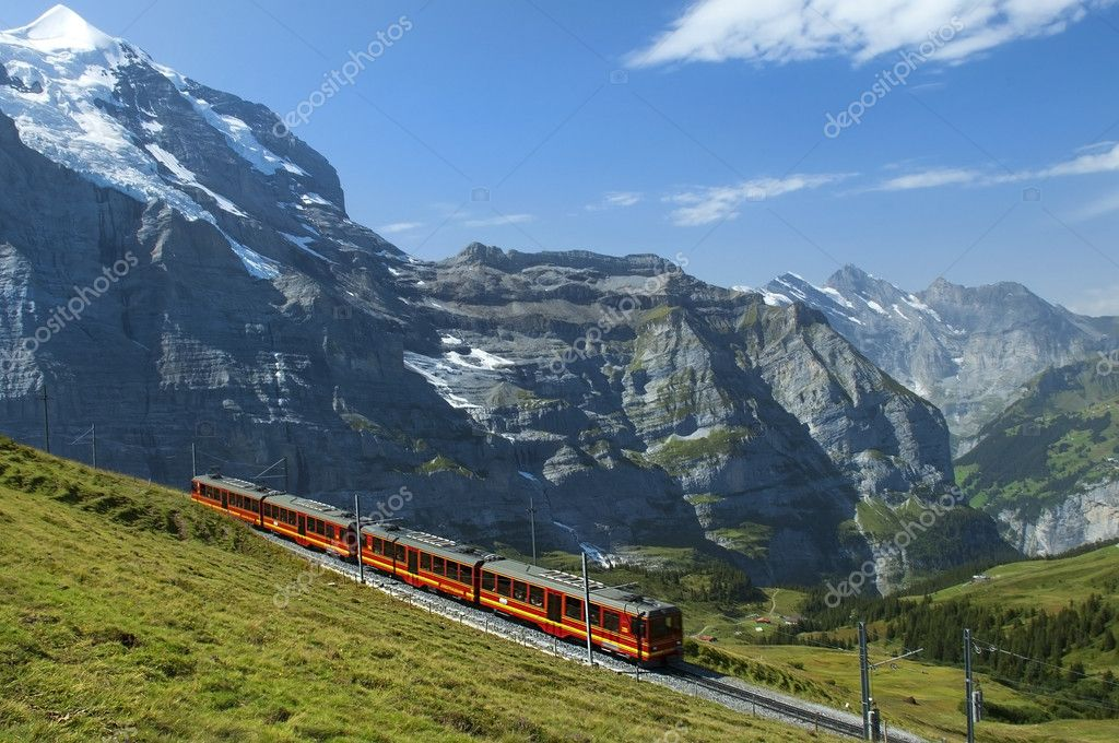 Railways in the Swiss Alps
