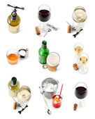 Drinks collection isolated over white
