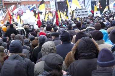Russia, Moscow - DECEMBER 24: 120 thousands of protesters take t