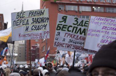 MOSCOW - DECEMBER 24: 120 thousands of protesters take to in Aca