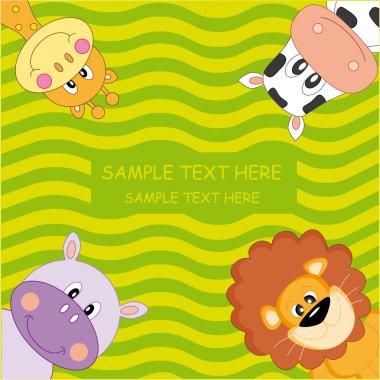 Funny animal card