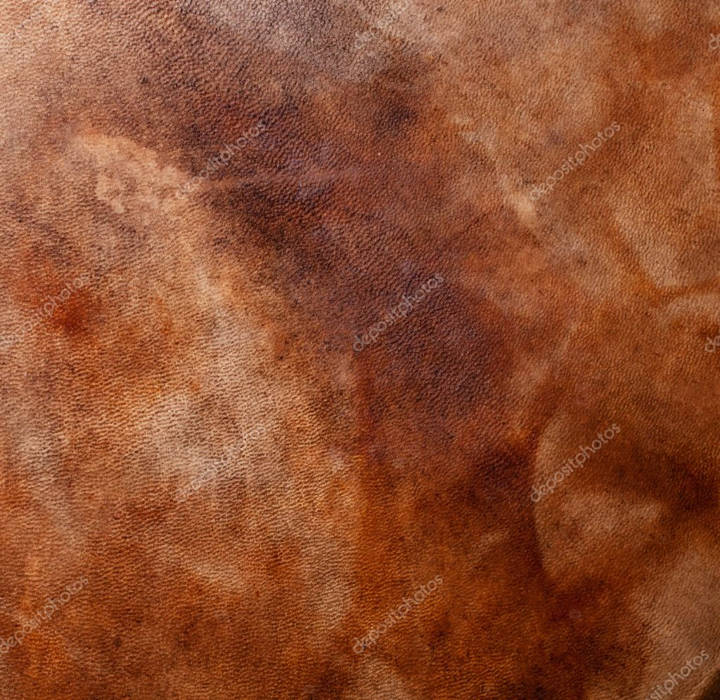 Natural qualitative leather with stains