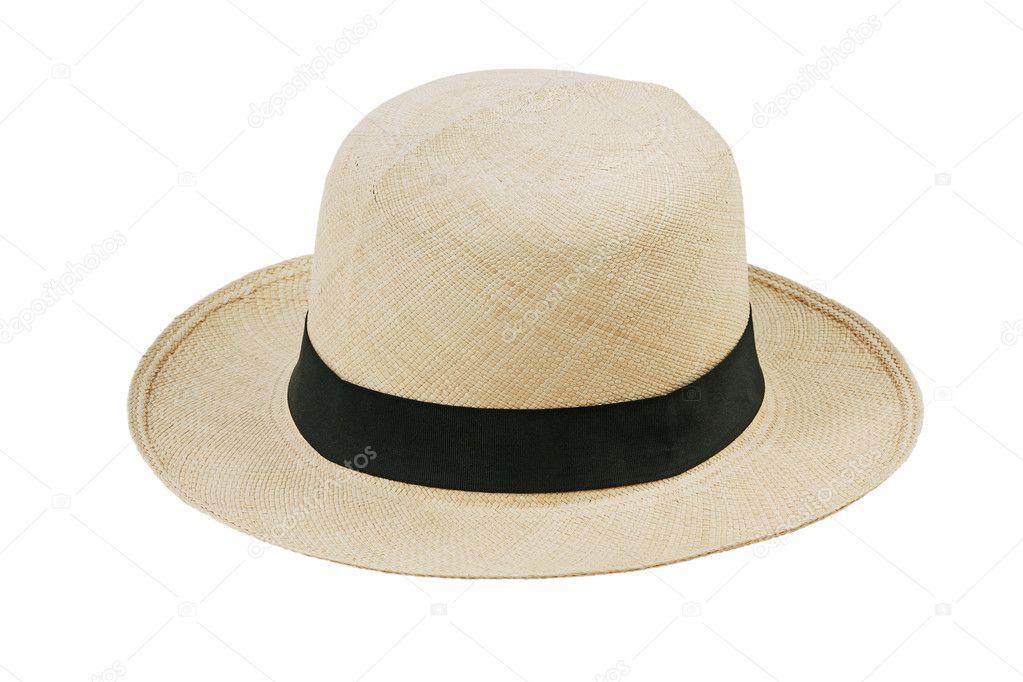 slaměný klobouk s široký okraj — Stock Fotografie © Dimedrol68  8058609 61d795f034