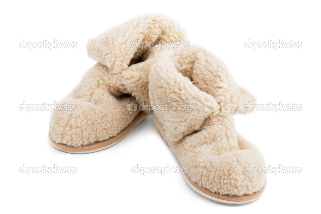 Slippers of wool