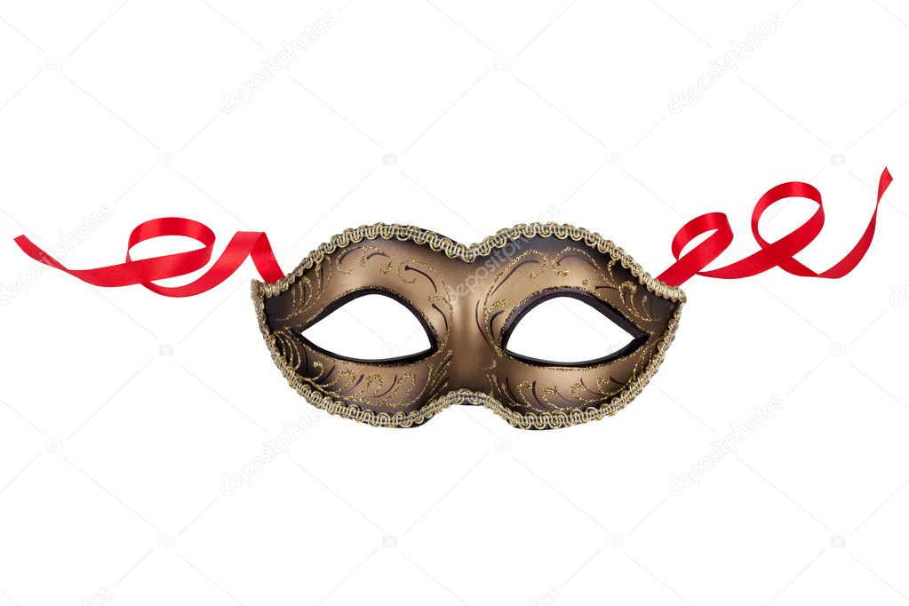 Decorative carnival mask black and gold