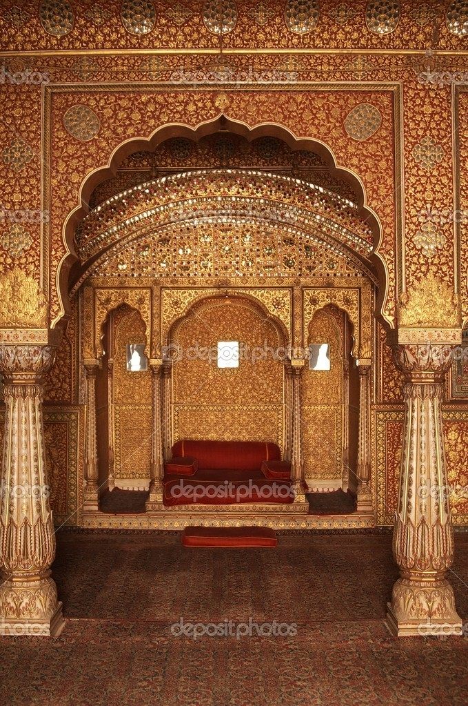 interieur van een indiase paleis stockfoto