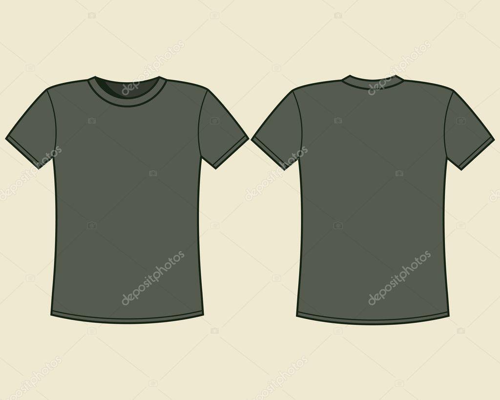 leere T-shirt-Vorlage — Stockvektor #10675241