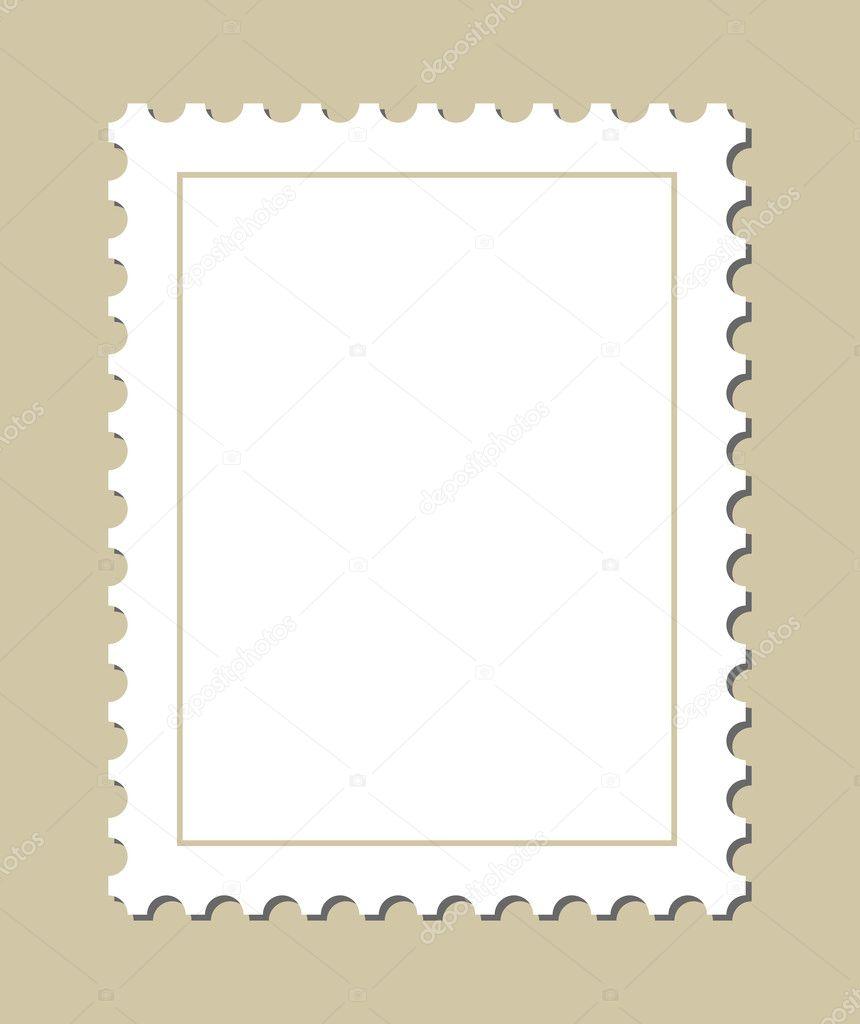 Blank postage stamp — Stock Vector © nikolae #9756758
