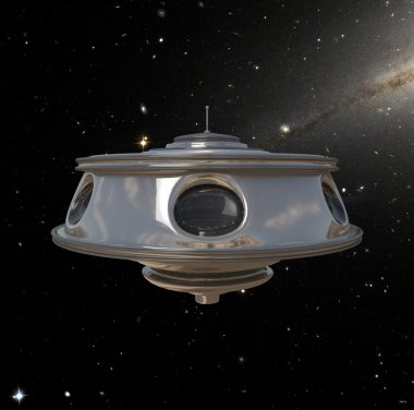 Ufo with metal body lost in space
