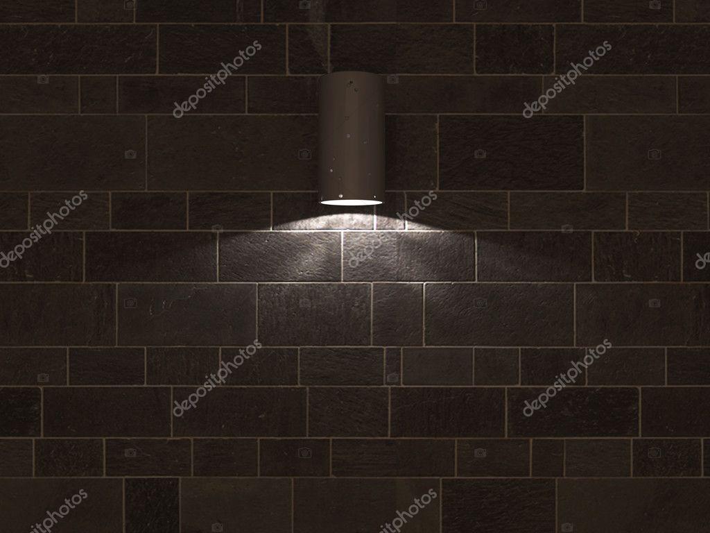 Riflettori sul muro di piastrelle nere u2014 foto stock © homeworks255