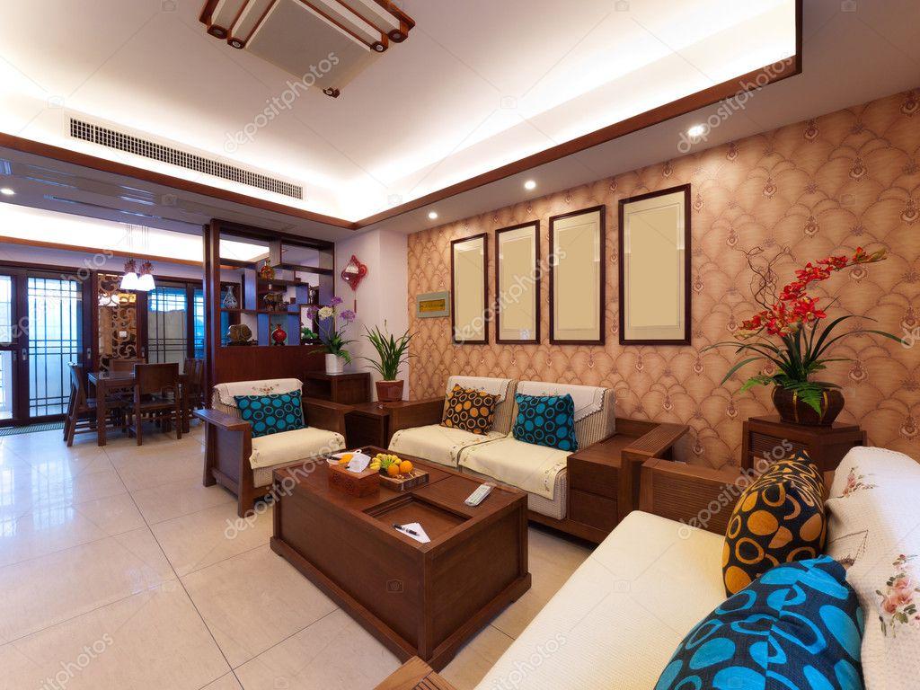 Arredamento casa con stile cinese foto stock for Arredamento cinese
