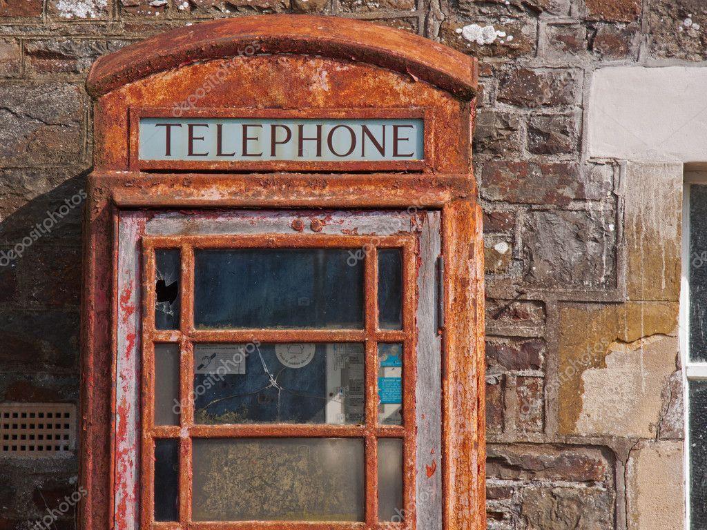 Disused Phone Box in UK