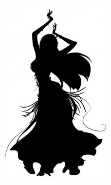 Belly dancer silhouette