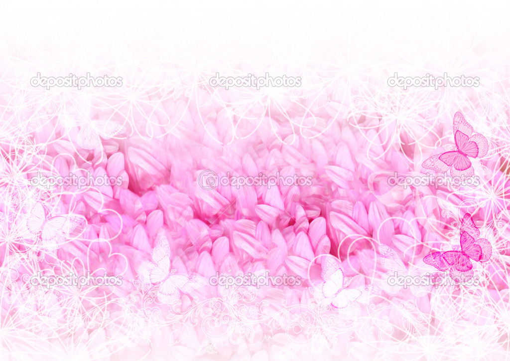 Pretty soft card with pink petals