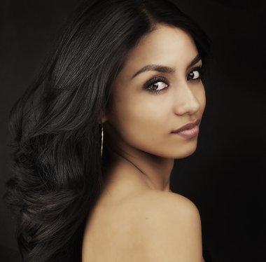 Sexy seductive exotic slim beautiful young woman