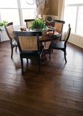 Beautiful home interior wood flooring