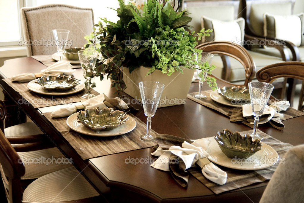 Dining table setting \u2014 Photo by paulmhill & Dining table setting \u2014 Stock Photo © paulmhill #10631897