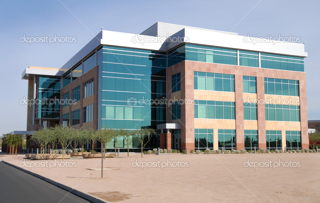 Generic modern empty office building