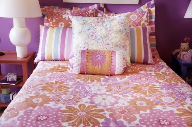 Bright modern young girls bedroom