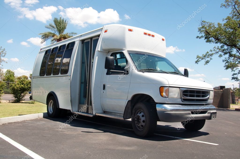 Wheelchair accessible white van