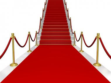 Red carpet with stair