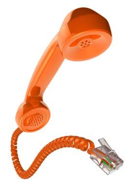 Orange phone receiver