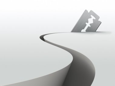Razor blade cut