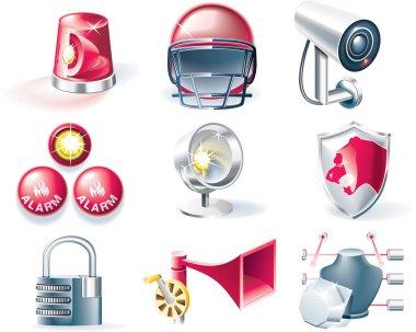 Vector security icon set
