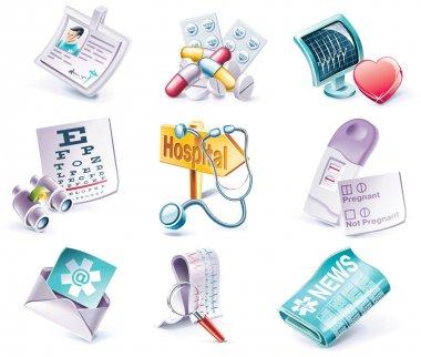 Vector cartoon style icon set. Part 29. Medicine