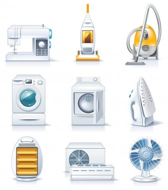Vector household appliances icons. Part 4