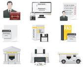 Vektor online banki ikon készlet. 1. rész