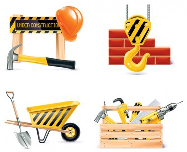 Vector Homebuilding & Renovating icon set. Part 4