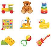 vektorové ikony hračku. Baby hračky