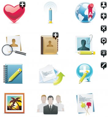 Vector social media icon set