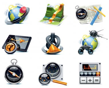 Vector GPS navigation icons. Part 1