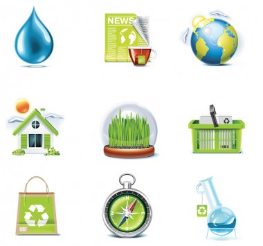Vector ecology icon set. Part 3